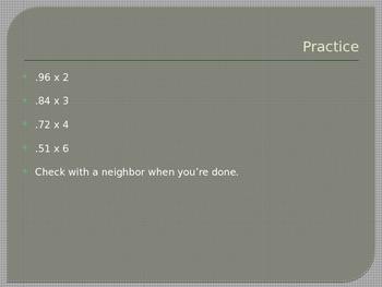 Fifth Grade- Math Multiplying and Dividing Decimals