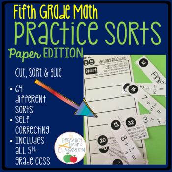 Fifth Grade Math Practice Sorts