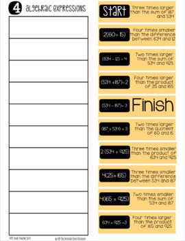 Fifth Grade Math Practice Sorts: Digital Version for Google Drive