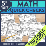 Math Exit Tickets for 5th Grade | Printable and Digital Pr