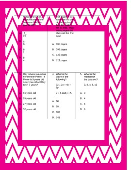 Fifth Grade Math Review Worksheets Packet - Volume 2