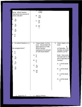 Fifth Grade Math Review Worksheets Packet - Volume 3