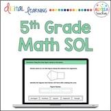 Fifth Grade Math SOL Review TEI Questions (Digital)