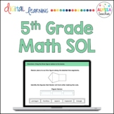 Fifth Grade Math SOL Review TEI Questions (Digital) - Distance Learning