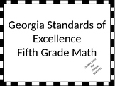 Fifth Grade Math Standards Posters for GSE with Black and White Border