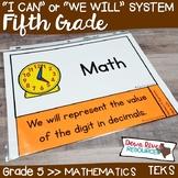 Fifth Grade Math TEKS I Can Statements