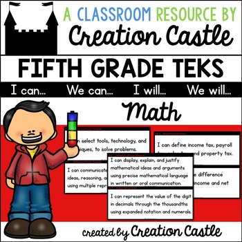 Fifth Grade Math TEKS - Can and Will Standards Statements