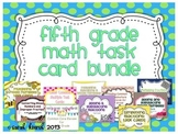 Fifth Grade Math Task Card Bundle