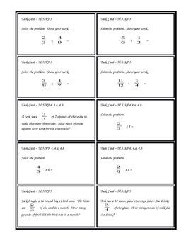 Fifth Grade Math Task Cards