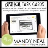 Fifth Grade Math Task Cards ~ All Standards Digital Edition Bundle