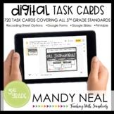 Fifth Grade Digital Math Task Cards ~ All Standards Digita