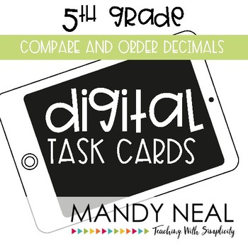 Fifth Grade Math Task Cards ~ Compare and Order Decimals