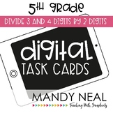 Fifth Grade Math Task Cards ~ Divide 3 and 4 Digits by 2 Digits
