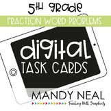 Fifth Grade Math Task Cards ~ Fraction Word Problems