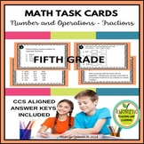 5th Grade Math Task Cards - Fractions