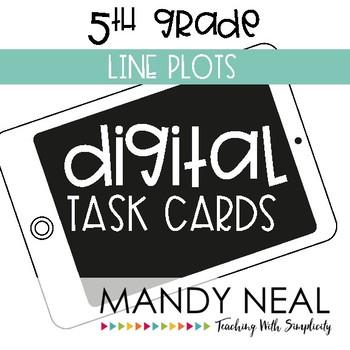 Fifth Grade Math Task Cards ~ Line Plots