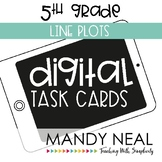 Fifth Grade Digital Math Task Cards ~ Line Plots | Distanc