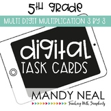 Fifth Grade Math Task Cards ~ Multi-Digit Multiplication 3 x 3