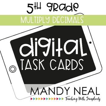 Fifth Grade Math Task Cards ~ Multiply Decimals