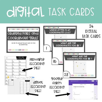 Fifth Grade Math Task Cards ~ Ordered Pairs and Coordinate Grids