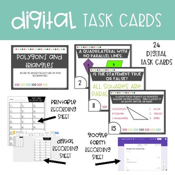 Fifth Grade Math Task Cards ~ Polygons and Triangles