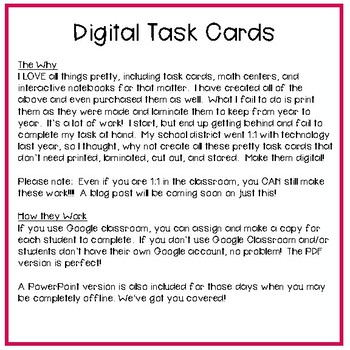 Fifth Grade Math Task Cards ~ Read and Write Decimals