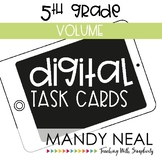 Fifth Grade Digital Math Task Cards ~ Volume | Distance Learning