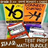 Fifth Grade Math Test Prep Review Games Bundle | Fifth Grade TEKS