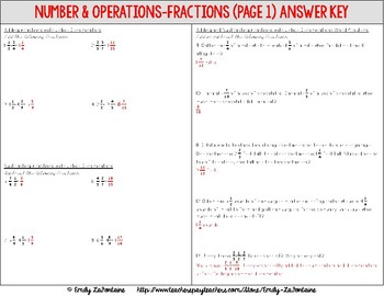 Fifth Grade Math Tutoring Packet (Common Core)