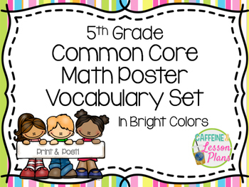 Fifth Grade Math Vocabulary Word Wall