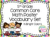 Fifth Grade Math Vocabulary Word Wall