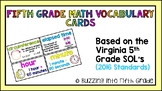 Fifth Grade Math Vocabulary/Word Wall Cards