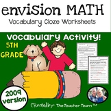 enVision Math 5th Grade 2009 version Vocabulary CLOZE Worksheet Activities