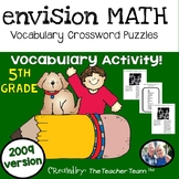 enVision Math 5th Grade 2009 version Vocabulary Crossword Puzzles Topics 1-20