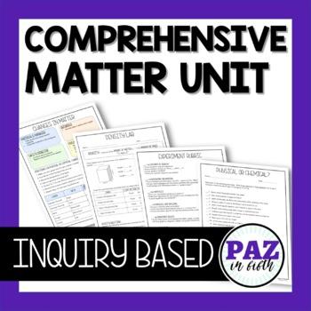 Fifth Grade Matter Unit