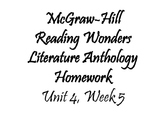 Fifth Grade McGraw-Hill Wonders Literature Anthology Trifo