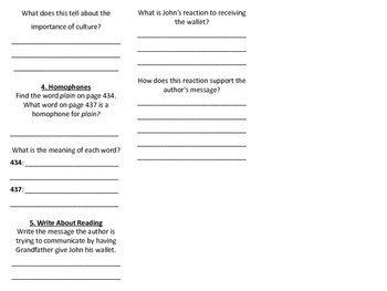 Fifth Grade McGraw-Hill Wonders Literature Anthology Trifold (Unit 6, Week 1)