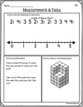 Fifth Grade Measurement and Data Practice
