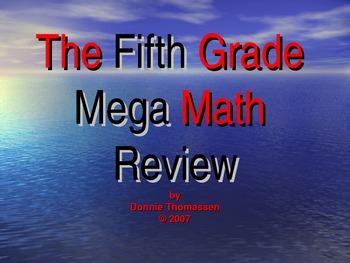 Fifth Grade Mega Math Review PowerPoint