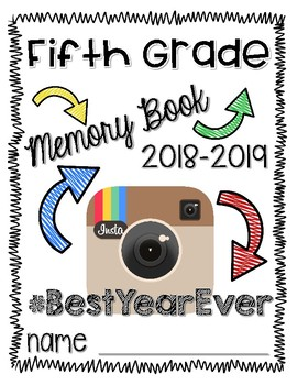 End of the Year Fifth Grade Memory Book