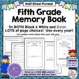 5th Grade Memory Book - Tales of a Fifth Grade Someone - Half Sheet - Color & BW