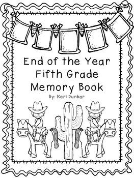 Fifth Grade Memory Book- Western Theme