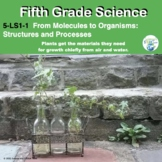 Fifth Grade NGSS 5-LS1-1:  Life Science Unit in Pdf and Di
