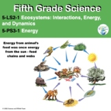 Fifth Grade NGSS 5-LS1-2-1:  Life Science Unit and 5-PS3-1 Energy Unit