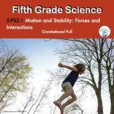 Fifth Grade Science NGSS Motion and Stability Forces and Interactions Gravity