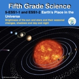 Fifth Grade NGSS  ESS1-1 and ES1-2  Earth's Place in the Universe