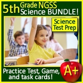 5th Grade Science TEST PREP Bundle Spiral Review NGSS - Print & GOOGLE CLASSROOM