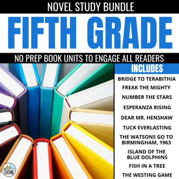 Fifth Grade No Prep Novel Study Trifold Bundle