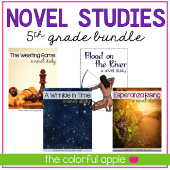 Fifth Grade Novel Studies Bundle