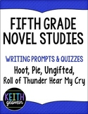 5th Grade Novel Studies Bundle: Hoot, Ungifted, Pie, Roll of Thunder Hear My Cry